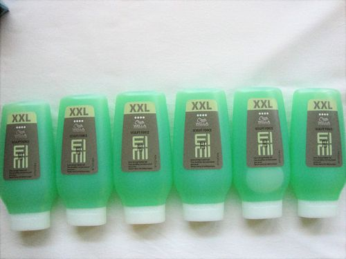 6 x Wella EIMI Sculpt Force Flubber Gel XXL 250 ml vm. High Hair SONDERGRÖSSE